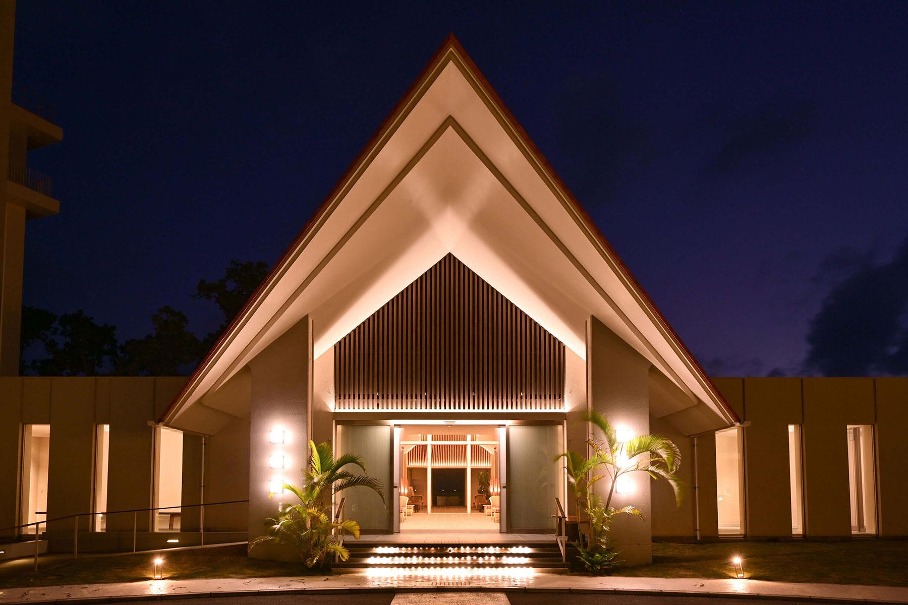 石垣島の美しい星空を守るため、光害に考慮した照明計画
