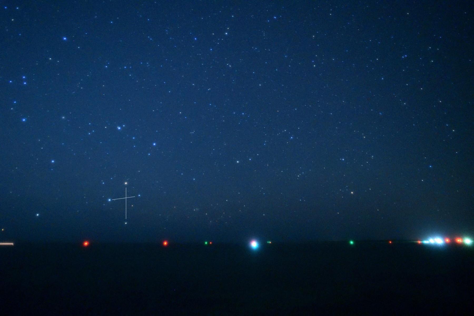 南十字星の季節到来!しゃにしゃに星空ツアーの期間中にご覧いただけます。(6月20日ごろまで)