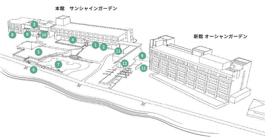 石垣島ビーチホテル 館内マップ